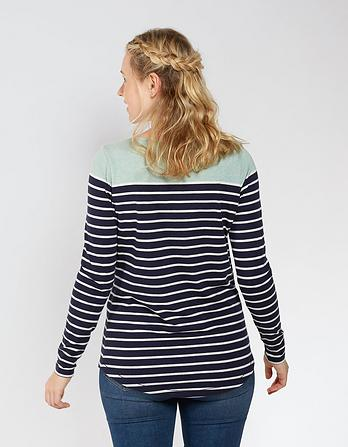 Organic Cotton Color Block Breton T-Shirt