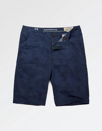 Spiral Print Shorts