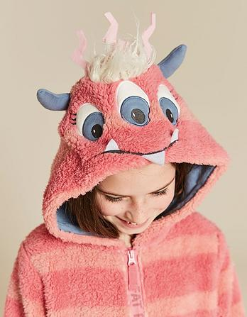 Flora Monster Fleece Onesie