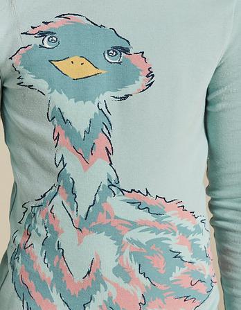 Elsie Emu Snug Pajama Set