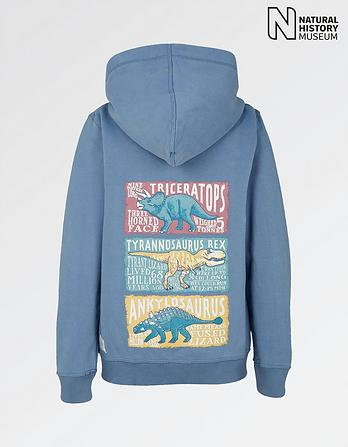 Natural History Museum Dinosaur Facts Zip Thru Hoody