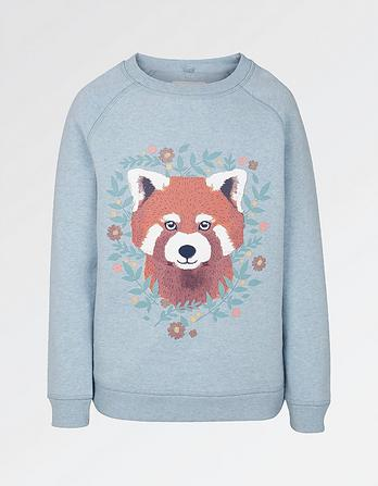 Penny Red Panda Crew Neck Sweatshirt