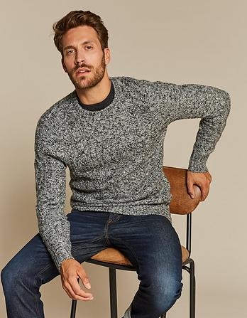 Calder Cable Crew Neck Sweater