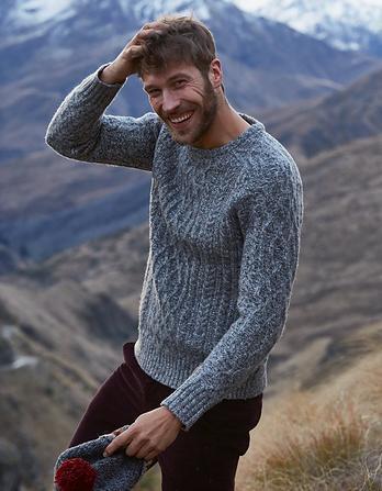 Calder Cable Crew Neck Sweater