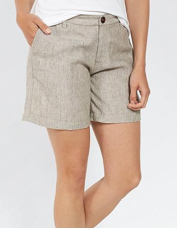 Textured Linen Shorts