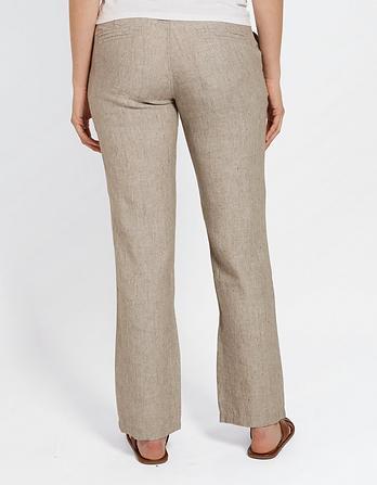 Textured Linen Pants
