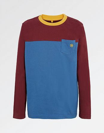 Color Block Pocket T-Shirt