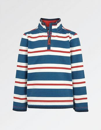 Jamie Stripe Half Neck Sweatshirt