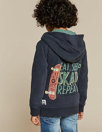 Skate Graphic Zip Thru Hoody