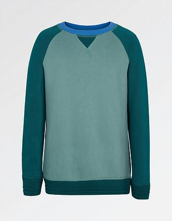 Plain Raglan Crew Neck Sweatshirt