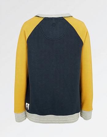 Plain Raglan Crew Neck Sweatshirt