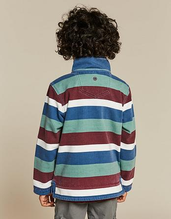 Jamie Block Stripe Half Neck Sweatshirt