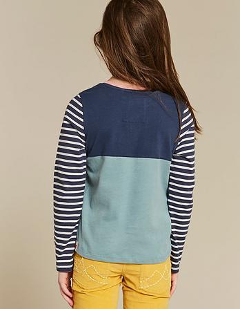 Cut and Sew Pocket T-Shirt