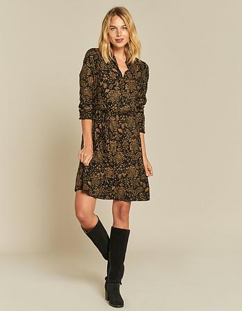 Charlie Crochet Floral Shirt Dress