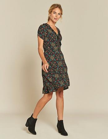 Greta Jewel Tile Wrap Dress