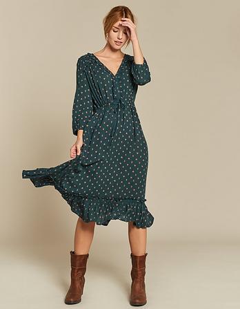 Adeline Opulent Paisley Midi Dress