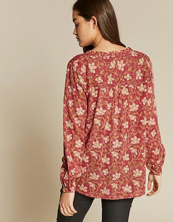 Elle Stitchwork Floral Blouse