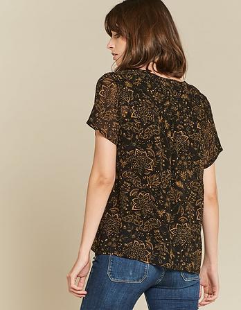 Gemma Crochet Floral Blouse