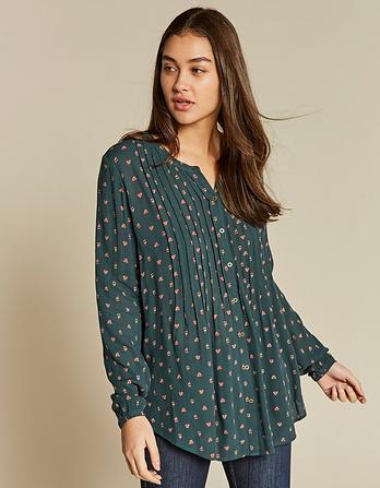 Evie Opulent Paisley Longline Shirt