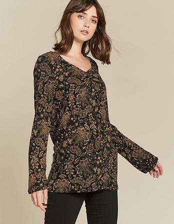 Amelie Crochet Floral Longline Top