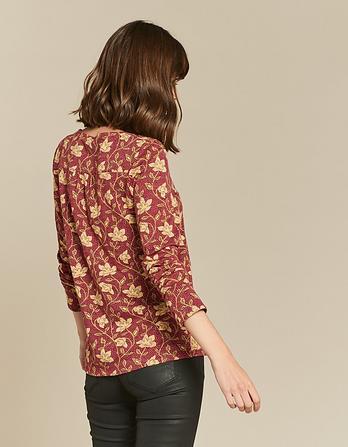 Lyall Stitchwork Floral Top