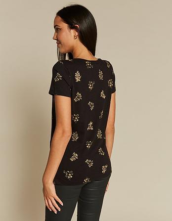 Crochet Floral T-Shirt