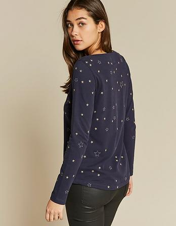 Constellation Embroidered T-Shirt