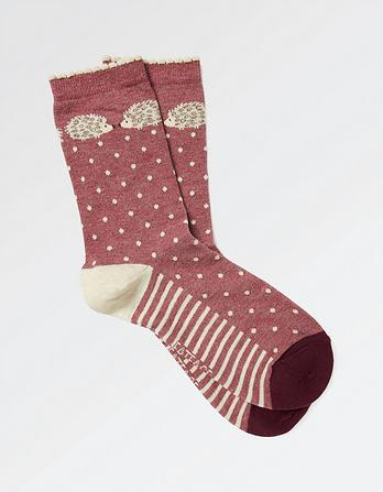 One Pack Hedgehog Spot Socks
