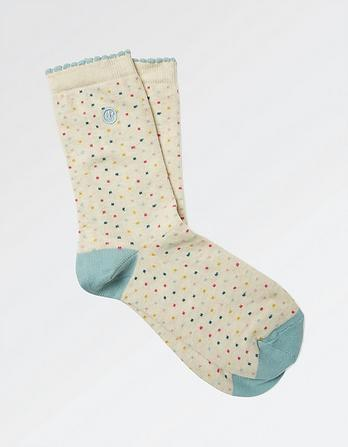 One Pack Multi Spots Socks