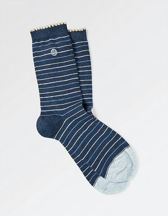 One Pack Sparkle Stripe Socks