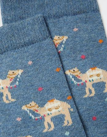 One Pack Spotty Camel Socks