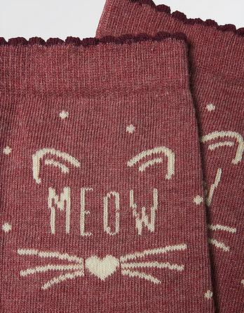 One Pack Meow Socks