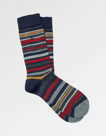 One Pack Fraiser Stripe Socks