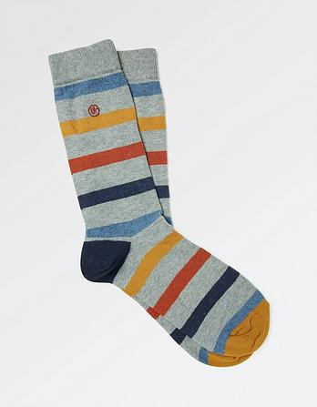 One Pack Riley Stripe Socks