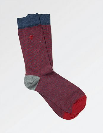 One Pack Callum Stripe Socks