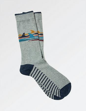 One Pack Shark Fin Socks