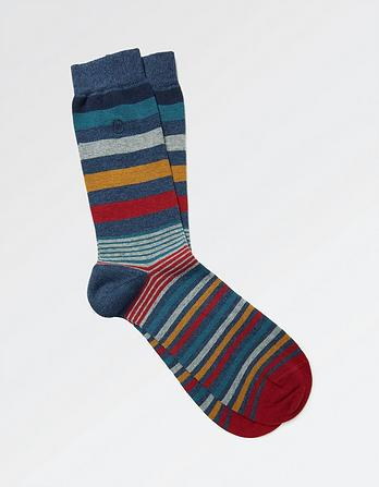 One Pack George Stripe Socks