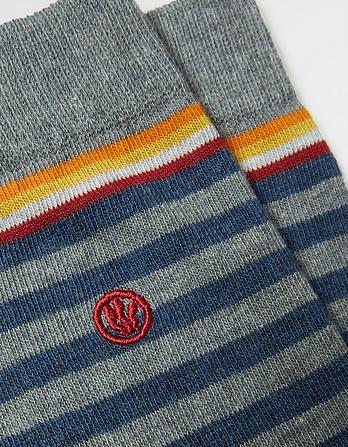 One Pack Jacob Stripe Socks