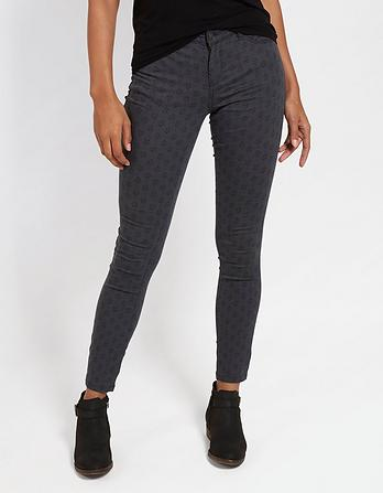 Five Pocket Printed Jeggings
