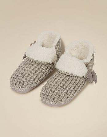 Olivia Knitted Slipper Boots