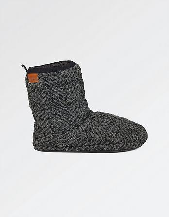 Logan Chevron Slipper Boots
