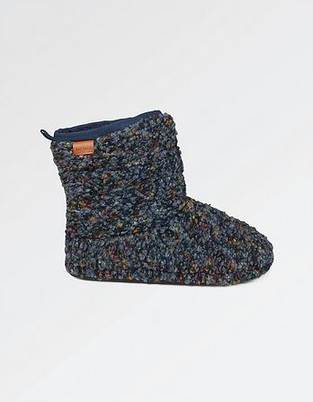 Logan Textured Slipper Boots