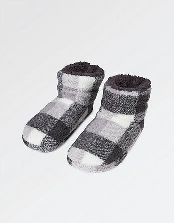 Laurence Low Check Slipper Boots