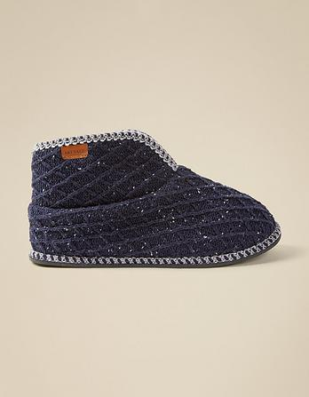 Liam Low Knitted Slipper Boots