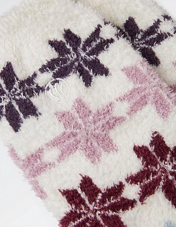Two Pack Snowflake Fluvia Socks