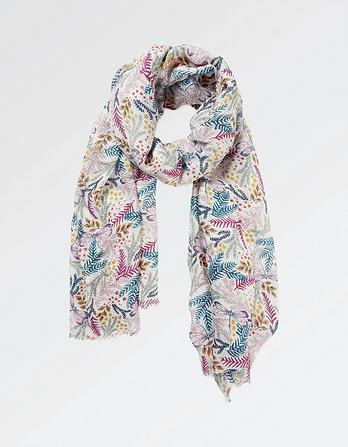 Dragonfly Floral Scarf