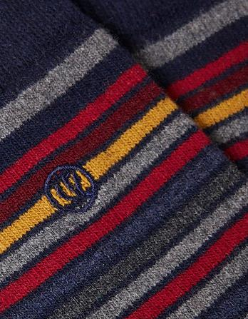 Mens Multi Stripe Merino Socks