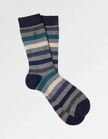 Block Stripe Merino Socks