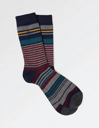 Ellis Stripe Merino Socks