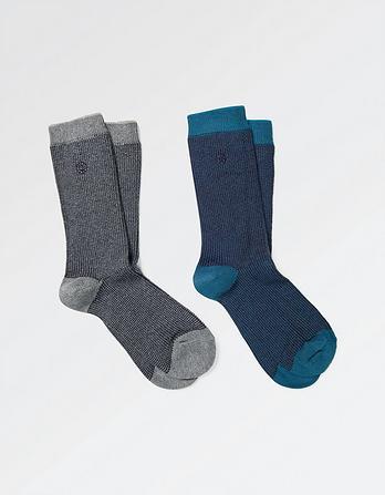 Two Pack Chevron Socks
